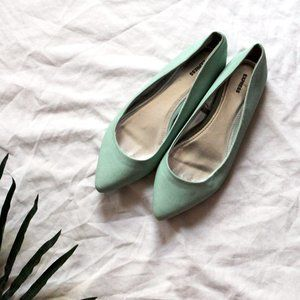 Express Blue Pointed Toe Flat